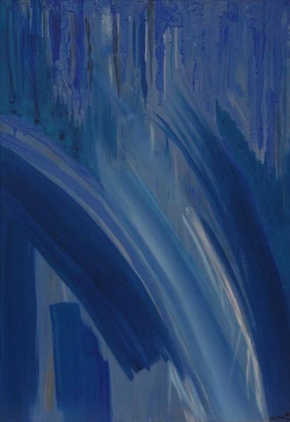 Bleu abstrait 1